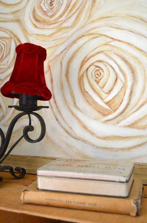 rosaroseblogg rod skjerm/rose