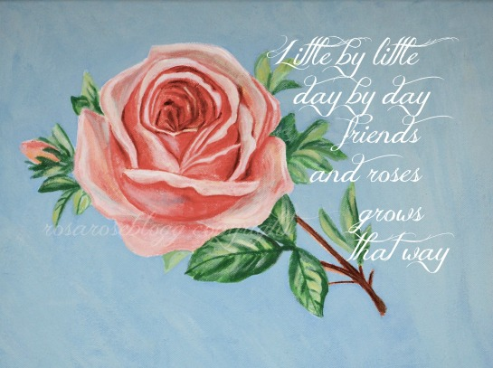 friends and roses tekst vannmerke