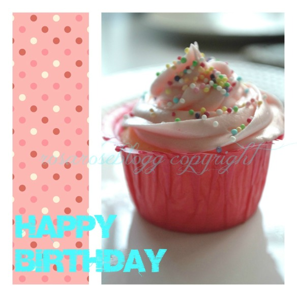 happy birthday cupcake card vannmerke