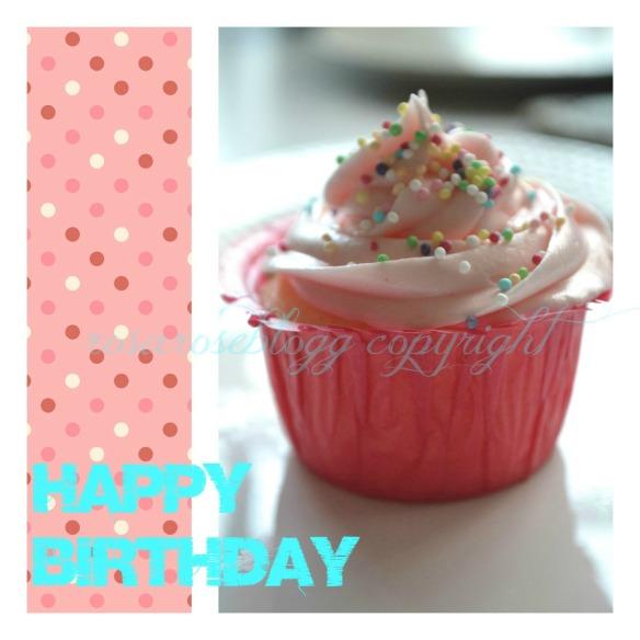 happy birthday cupcake card vannmerke